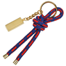 Cord Keyring with Metal Charm