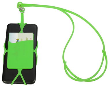 Silicone lanyard with smartphone holder